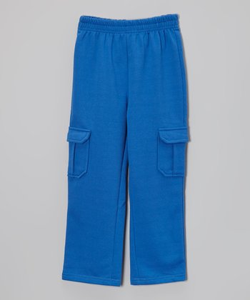 Royal Blue Plush Cargo Pants - Toddler & Boys