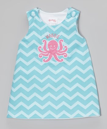 Aqua & Pink Octopus Personalized Jumper - Infant, Toddler & Girls