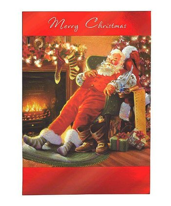 Fireside Santa Card - Set of 18