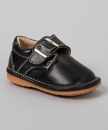Laniecakes Black Buckle Squeaker Shoe