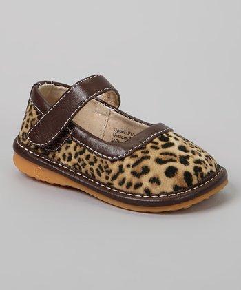 Laniecakes Brown Leopard Squeaker Mary Jane