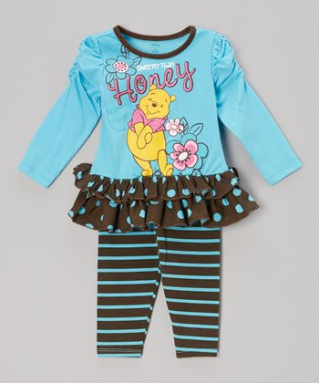 Blue 'Sweeter Than Honey' Tunic & Leggings - Infant