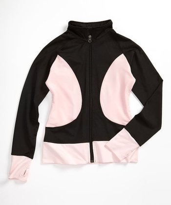 Black & Pink Warm-Up Jacket