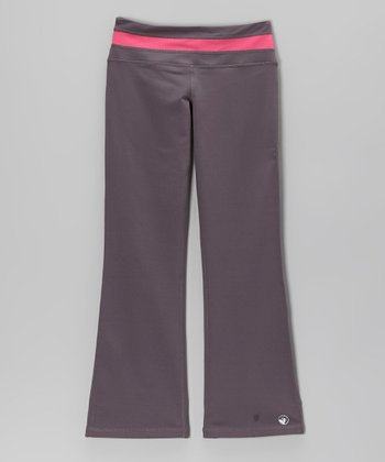 Charcoal & Fuchsia Asana Yoga Pants