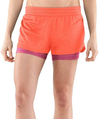 Electric Tangerine Contend Two-in-One Shorts