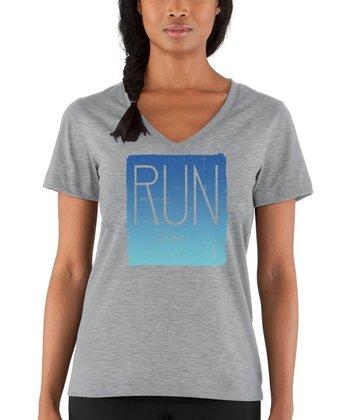 True Gray Heather 'Run' Tee