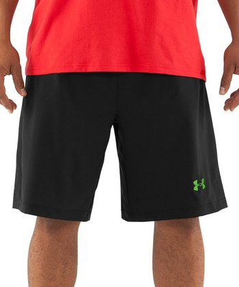 Black L.A.A.F. Two-in-One Basketball Shorts - Men & Tall