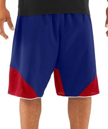 Royal Blue UA Rickter Basketball Shorts - Men & Tall