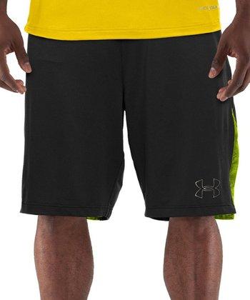 Black Coldblack® Two-A-Day Football Shorts - Men & Tall