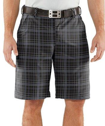 Black Forged Plaid Golf Shorts - Men & Tall
