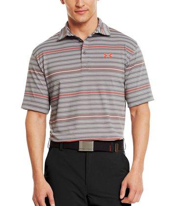 Graphite Performance Stripe Polo - Men & Tall