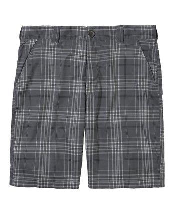 Graphite Forged Plaid Golf Shorts - Men & Tall