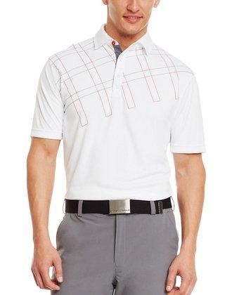 White Pulse Overlap Graphic Polo - Men & Tall