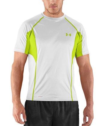 White HeatGear® Flyweight Fitted Tee - Men & Tall
