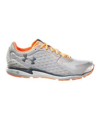 Metallic Silver UA Micro G® RE Running Shoe