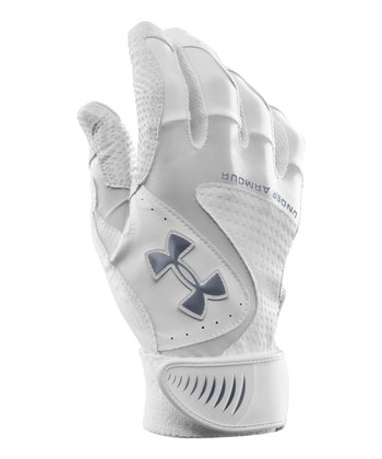 White UA Yard VI Baseball Gloves