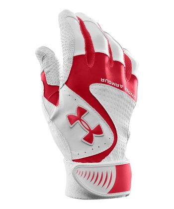 Red UA Yard VI Baseball Gloves