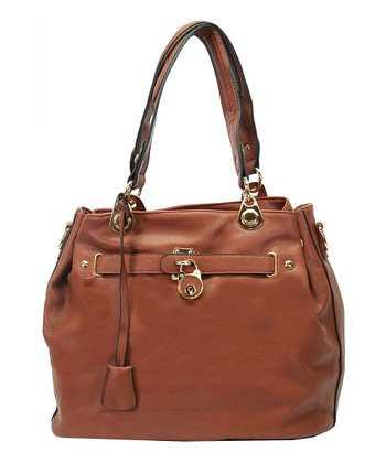 Dark Brown Lock Tote