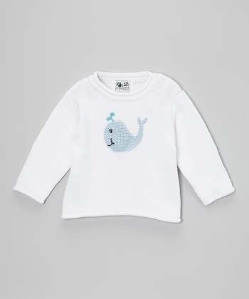 White Whale Sweater - Infant & Toddler