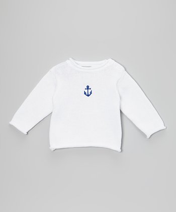 White Anchor Sweater - Infant & Toddler