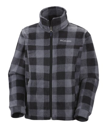 Black Lumberjack Zing II Fleece Jacket - Kids