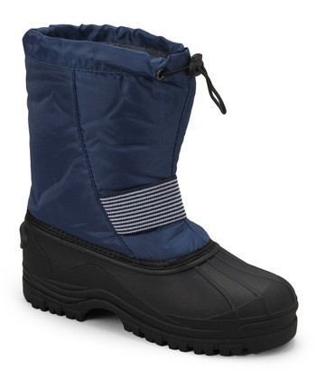 Navy Stripe Panel Boot - Kids