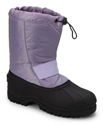 Purple Stripe Panel Boot