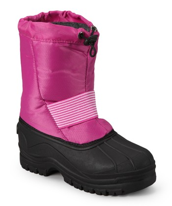 Pink Stripe Panel Boot