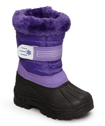 Purple & Black Snowflake Boot