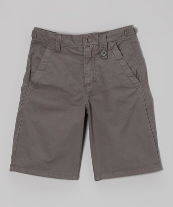 Dark Gray Shorts - Boys