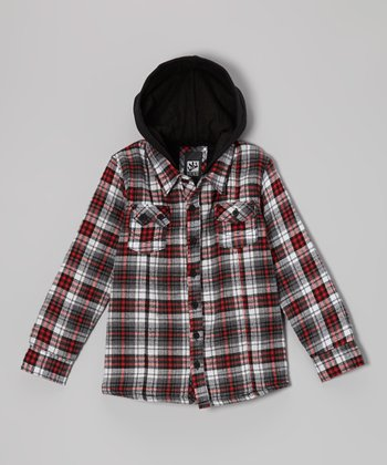 Red Sherpa Flannel Jacket - Toddler & Boys