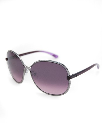 Silver & Purple Leila Sunglasses