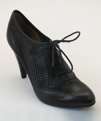 Black Brainy Oxford Bootie