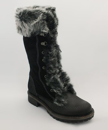 Black Montreal Leather Boot
