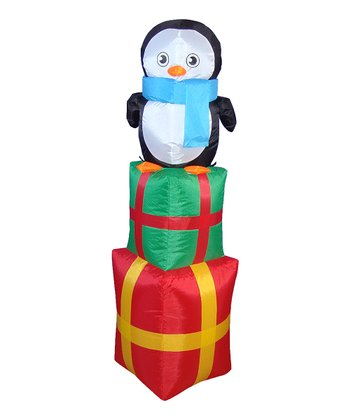 BZB Goods Lil' Penguin Inflatable Light-Up Lawn Decoration