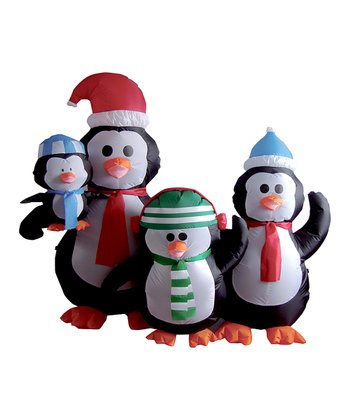 BZB Goods Penguins Family Inflatable Lawn Decoration