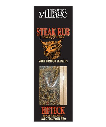 Steak Rub & Bamboo Skewers – Set of Three