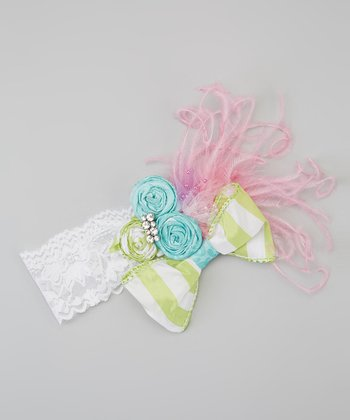 Pink & Green Parisian Headband