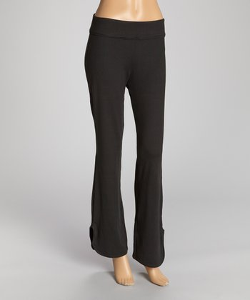 Black Reflect Relaxed-Fit Pants - Women
