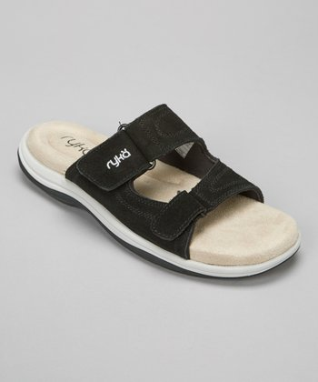 Black Kitt Double Strap Slide - Women
