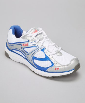 White & Blue Prevail Sneaker