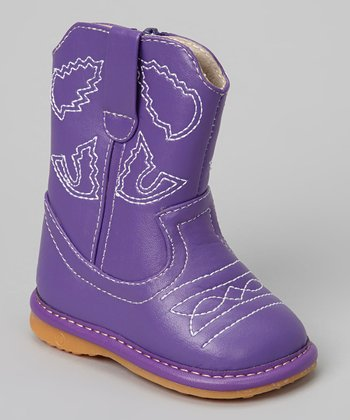 Laniecakes Purple Squeaker Cowboy Boot