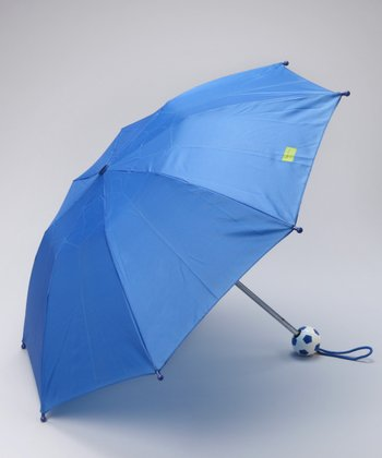 Royal Blue Soccer Ball Umbrella