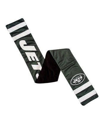 Green & White New York Jets Pocket Scarf