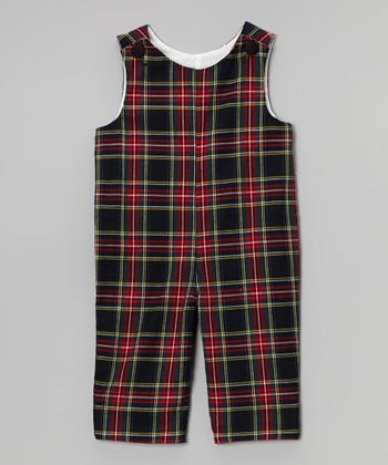 Red & Black Plaid Overalls - Infant & Toddler