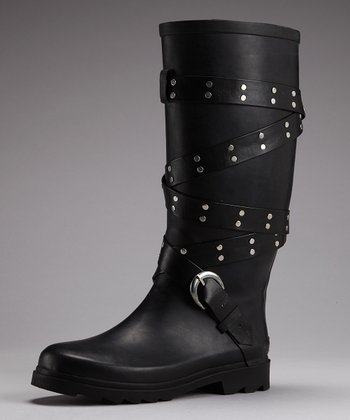 Black Rocker Rain Boot