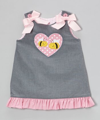 Black & Pink Reversible Jumper - Infant, Toddler & Girls