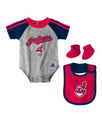 Gray Indians Bib Set - Infant