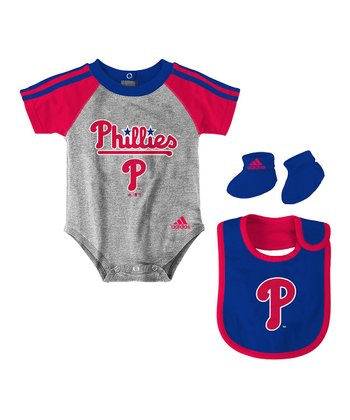 Gray Phillies Bib Set - Infant