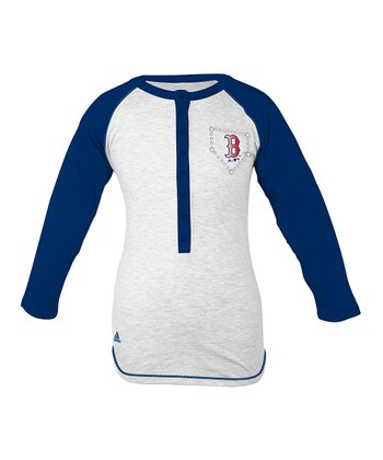 Boston Red Sox Rhinestone Raglan Tee - Girls